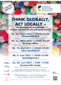 Plakat Think Globally Act Locally HfWU Nürtingen-Geislingen
